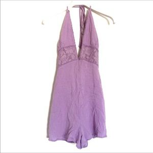 R104 UO x Cotton candy lilac romper